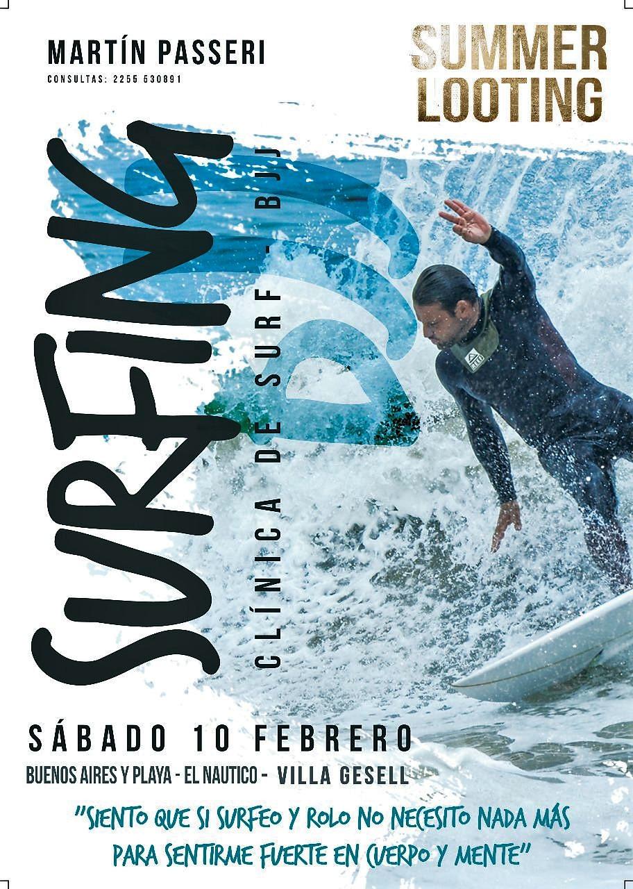 Clínica de SURF-Brazilian Jiu Jitsu por Martín Passeri.