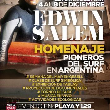 Edwin Salem / Homenaje Pioneros del Surf en Argentina